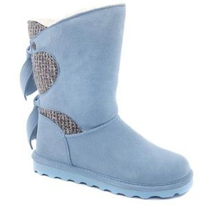 BearPaw Blue Willow Suede Tie Detail Boot NWT